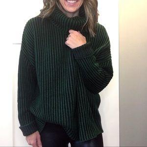 ZARA | Oversized Ribbed Wool Blend Sweater